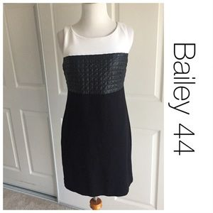 Bailey 44 Colorblock Quilted Faux Leather Dress S